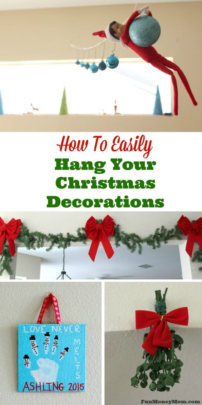 Who are you going to be kissing under the mistletoe? Find out my trick to putting up mistletoe and other decorations without a single hole in the wall! #DamageFreeHoliday #CBias @Walmart #ad