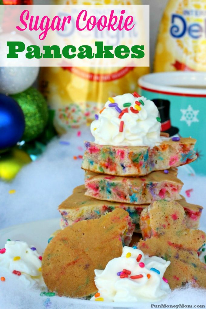 Make Christmas morning fun with these deliciously sweet Sugar Cookie Pancakes! #DelightfulMoments @Walmart #ad