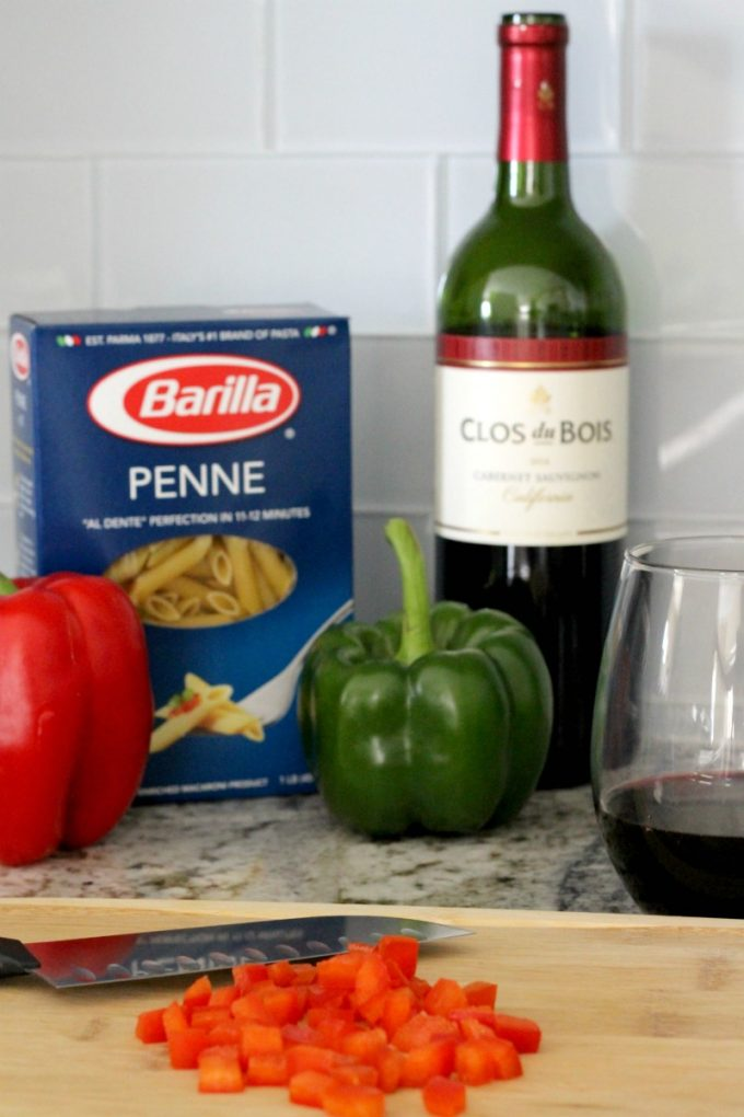 cheesy-holiday-penne-cooking