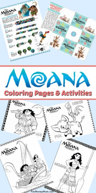 Moana Coloring Pages Pin 1