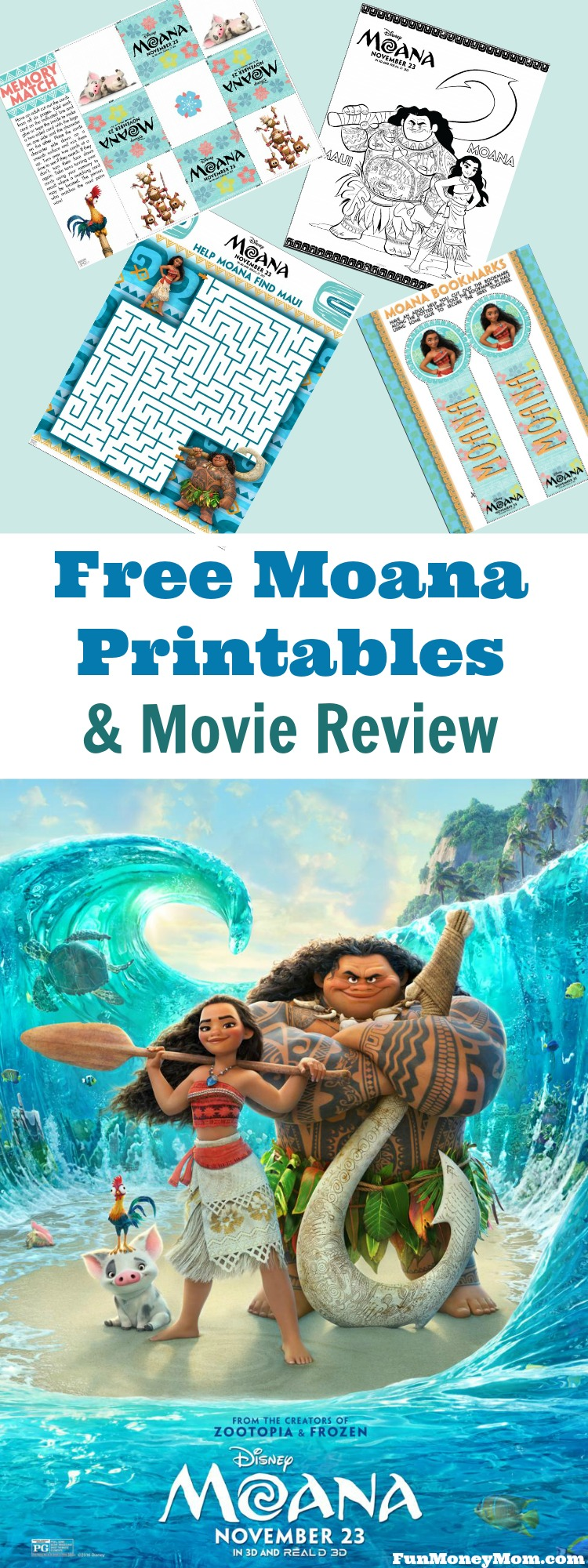 Did your kids love the Moana movie? If so, they're really going to love these free Moana printables and games!