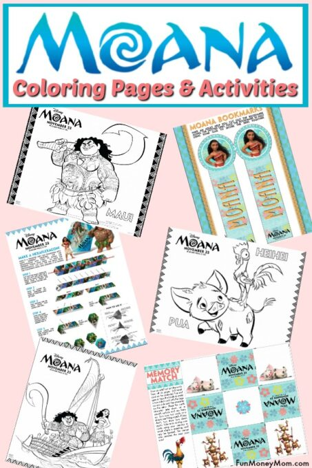 Moana coloring pages pin 2