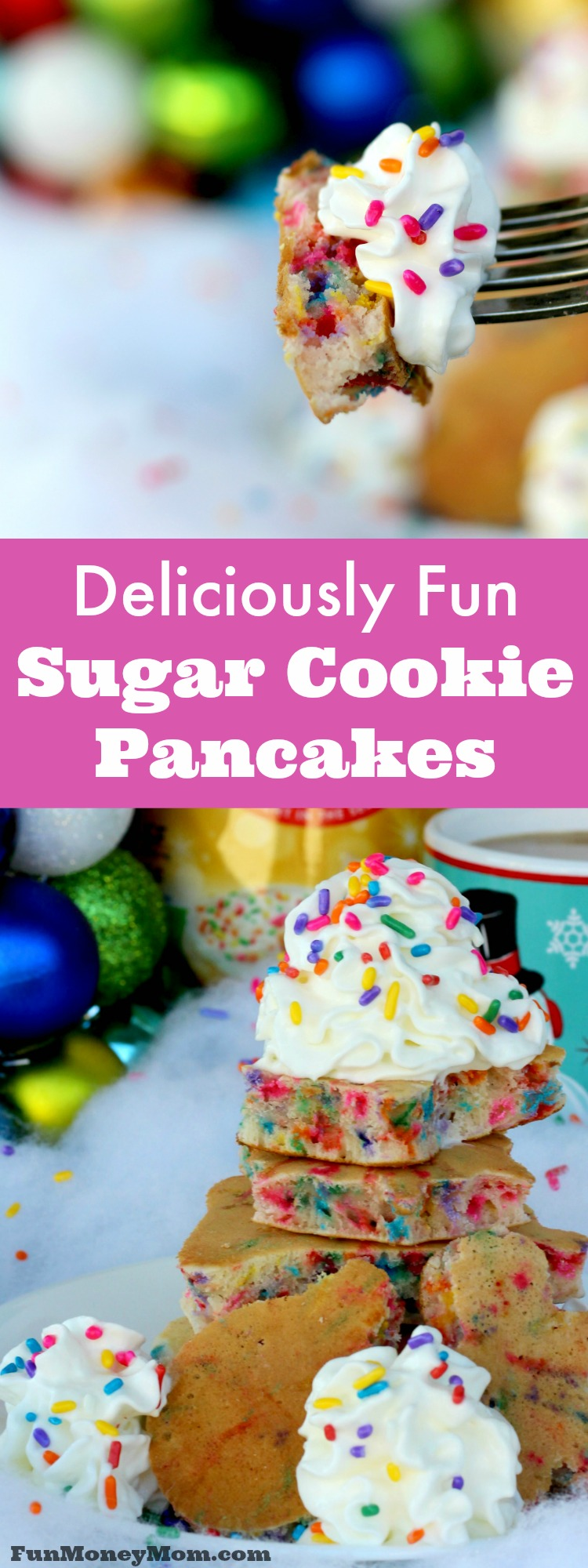 Make breakfast fun with these deliciously sweet Sugar Cookie Pancakes! It's the perfect kid food! #DelightfulMoments @Walmart #ad