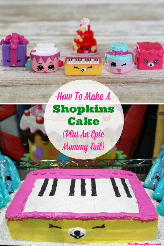 Are your kids obsessed with Shopkins too? Surprise them with this cute Shopkins cake for their birthday!