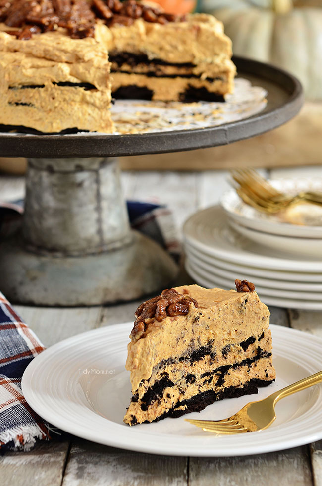 This icebox cake makes a great Thanksgiving dessert for kids