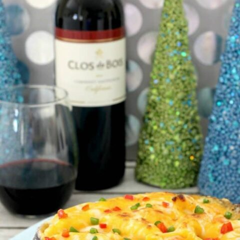 Cheesy Holiday Penne With Diced Peppers