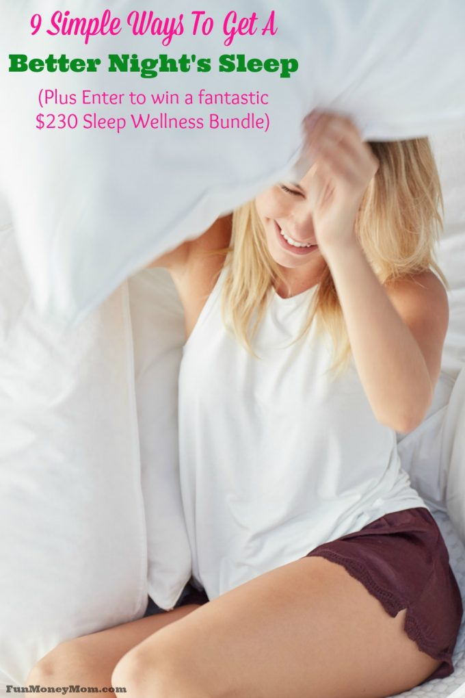 Can't sleep at night? These tips will help...plus enter to win an awesome Sleep Wellness Bundle ($230 value)