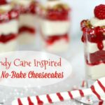 Candy Cane Inspired Mini No-Bake Cheesecakes