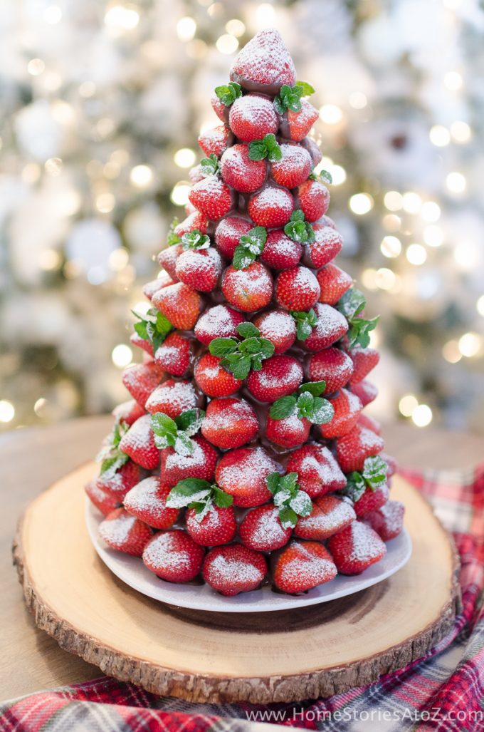 A Strawberry Christmas Tree is one of the best Christmas desserts