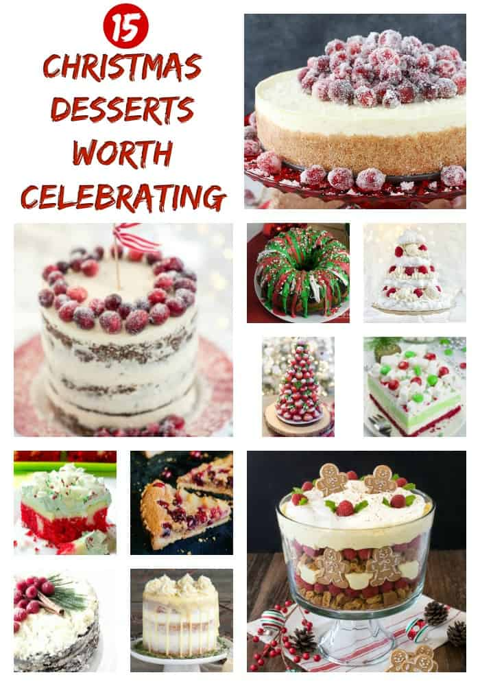 Christmas Desserts - These holiday desserts are almost too pretty to eat, but we're happy to try. They' make the perfect holiday treat to serve for holiday parties or Christmas dinner! #christmasdesserts #holidaydinner