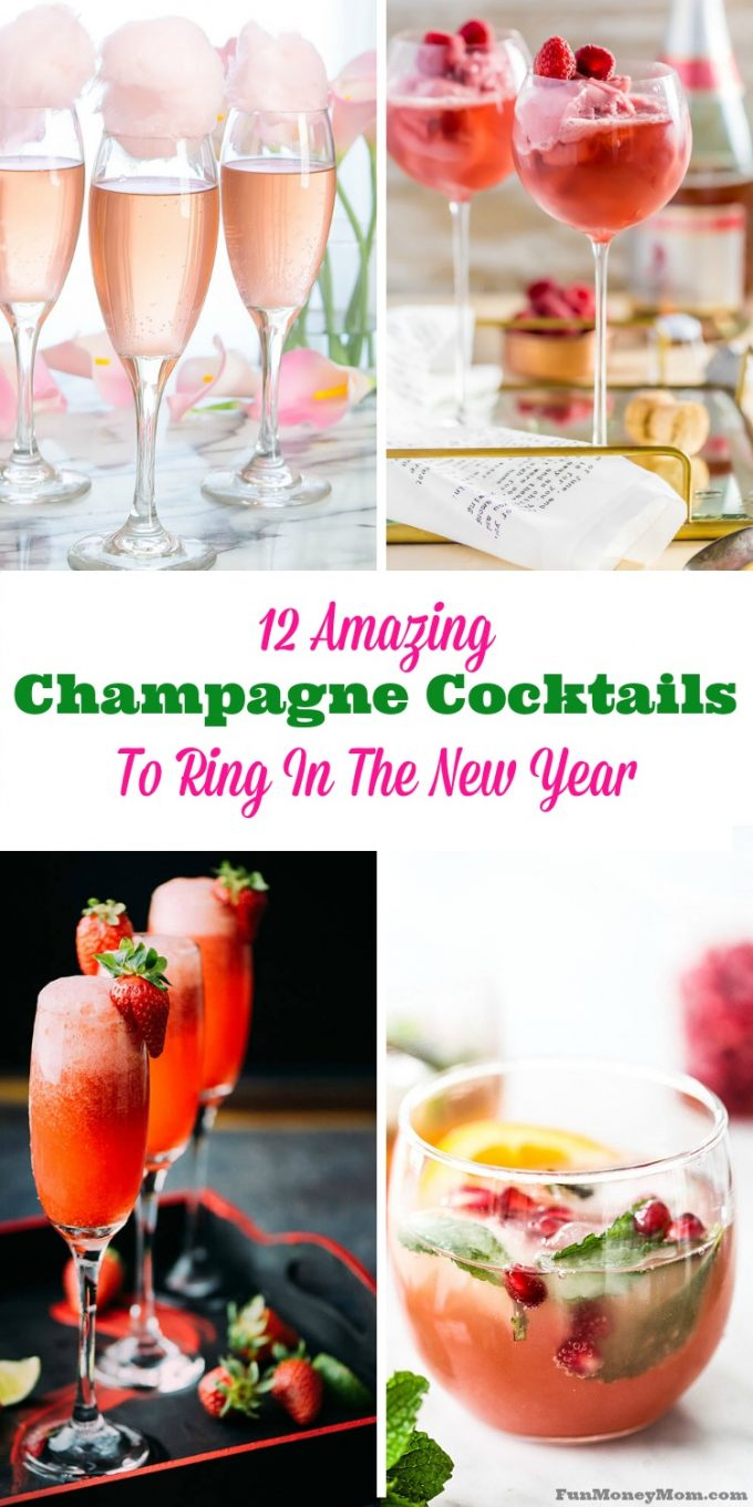 Celebrate New Year's Eve in style with these fun champagne cocktails!