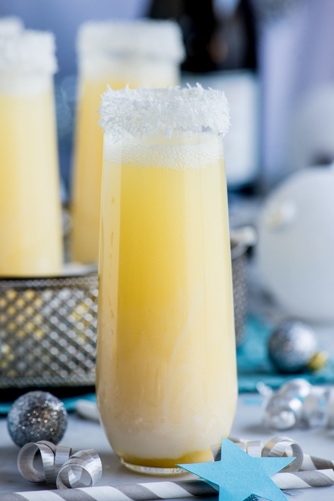 Pineapple and coconut cocktail for New Year's Eve