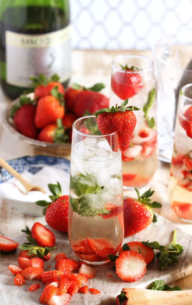 Strawberry Champagne Mimosa