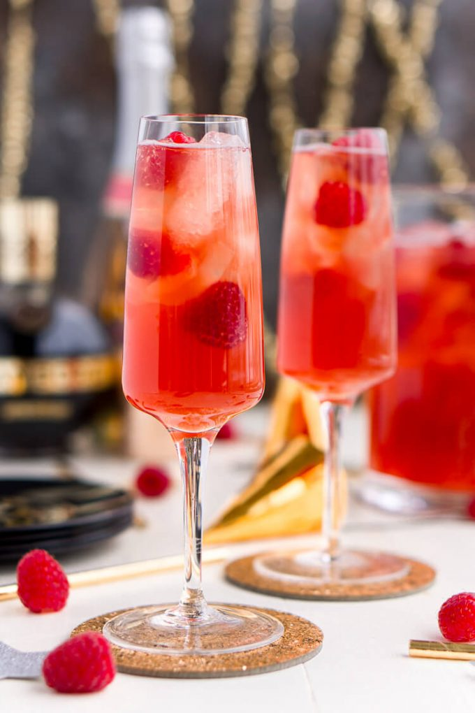 Champagne punch for New Year's Eve