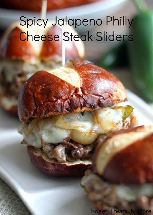 Jalapeno Philly Cheese Steak Super Bowl Snacks