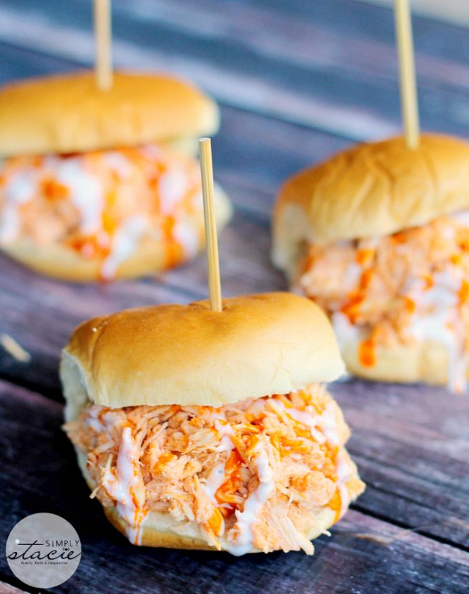 Buffalo Chicken Slider Super Bowl Snacks