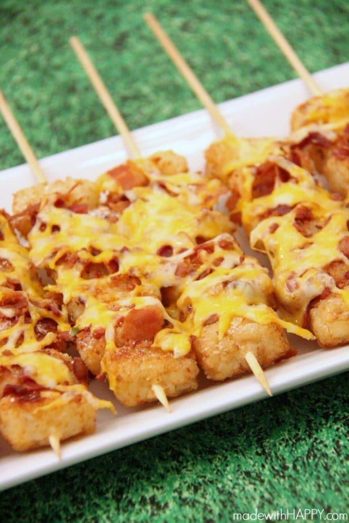 Loaded Tater Tot Super Bowl Snacks