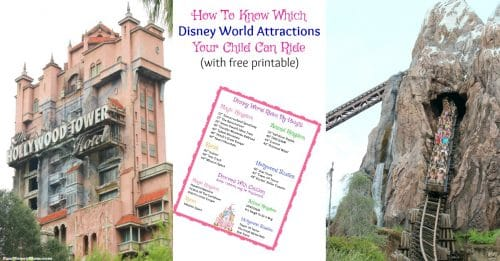 Height requirements for Disney World attractions
