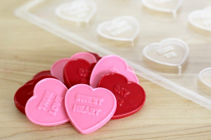 These candy conversation hearts were the perfect addition to my treats