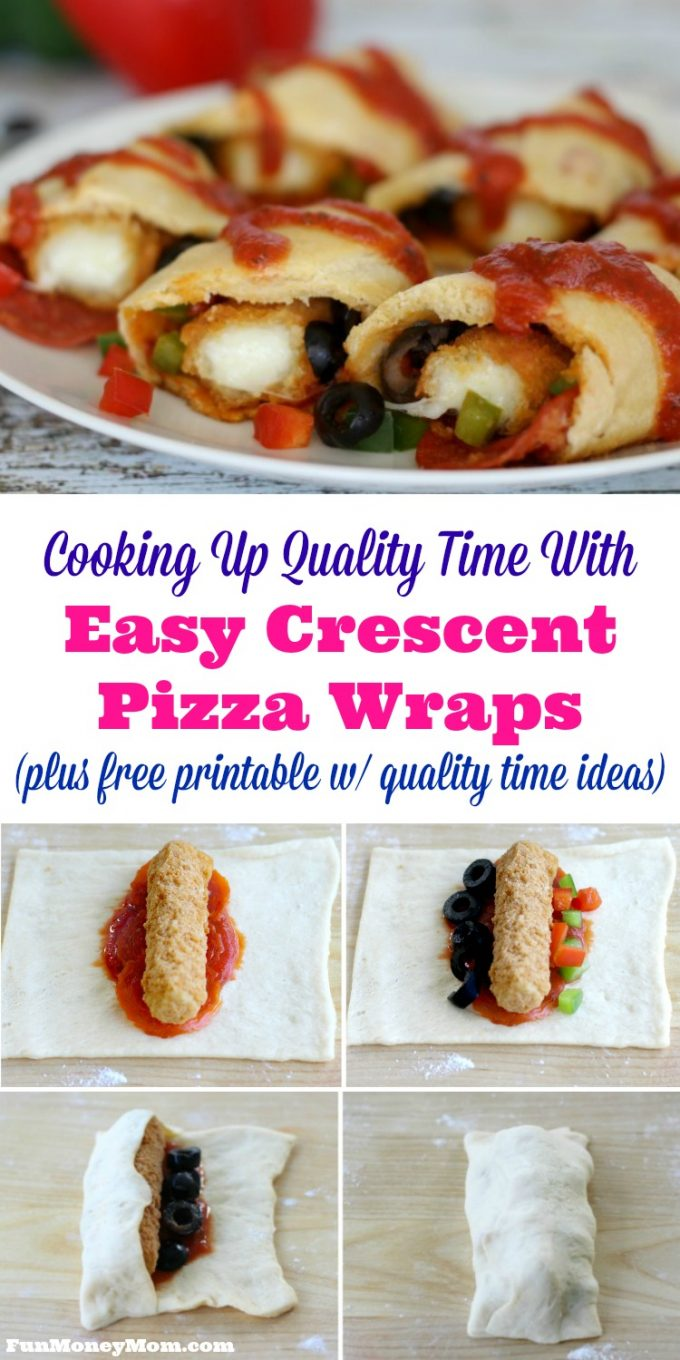 Looking for easy ways to spend more quality time with the kids? Make cooking dinner a family affair with these Easy Crescent Pizza Wraps! @FarmRIchSnacks