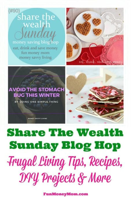 Share your recipes, frugal living tips, DIY projects & more at this weeks Share The Wealth Sunday Blog Hop!