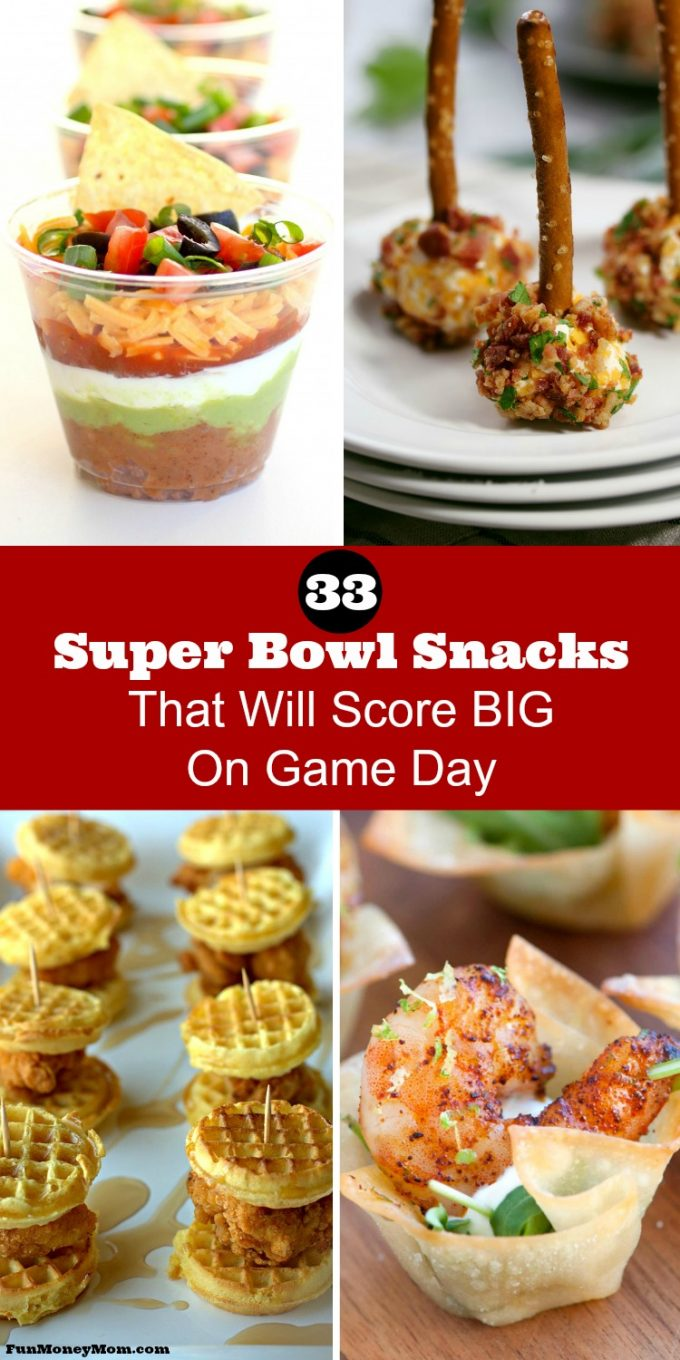 Excited about the Super Bowl? You'll need some Super Bowl snacks while you're watching and these mouthwatering recipes will score big!