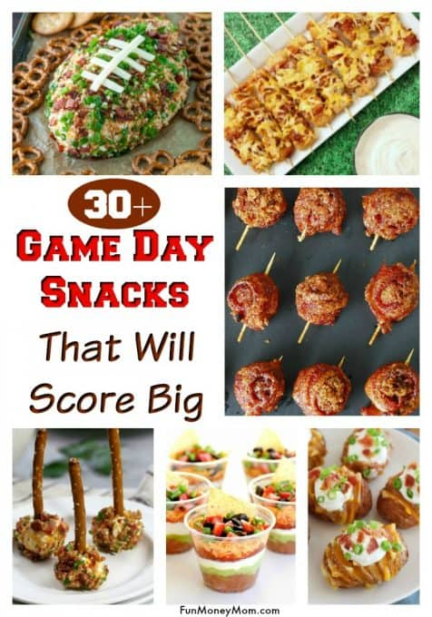 Superbowl Food - Need game day food for your football party? These awesome game day appetizers will score big! From cheese dip to sliders, you'll have all the party food you'll need. #gameday #superbowl #gamedayfood #superbowlfood #footballfood #appetizers #partyfood #bitesizefood