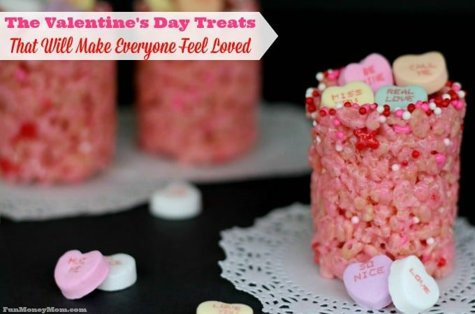 Delicious candy filled Valentine's Day treats