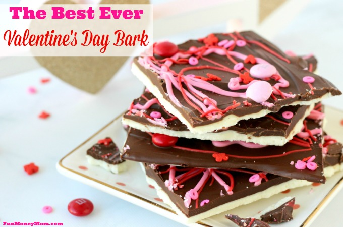 Closeup of the best ever Valentine's Day Bark