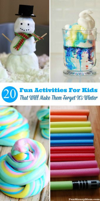 Are the kids climbing the walls because it's way too cold to go outside? These fun activities for kids are sure to keep them busy for awhile!