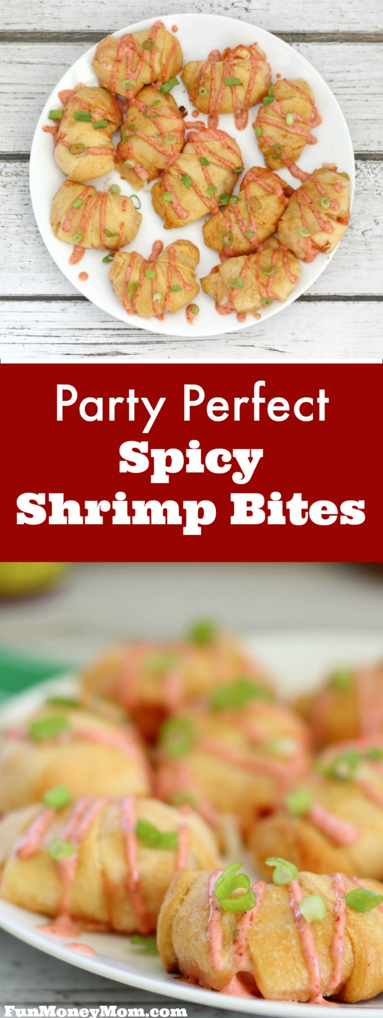 These delicious Shrimp Bites make the perfect finger food for your next party. Just spicy enough for those that like a little heat in their appetizers, this recipe is a crowd pleaser.