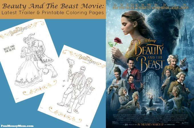 The latest trailer and coloring pages for the Beauty And The Beast Movie feature