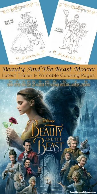 Check out the latest Beauty And The Beast clip where we finally get to hear Emma Watson sing. Then print out these fun coloring pages for the kids! #BeautyAndTheBeast