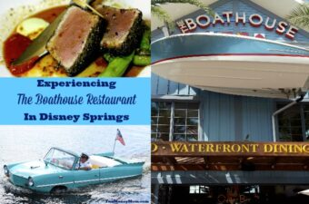 Ride in an Amphicar, then stay for the seafood at The Boathouse Restaurant in Disney Springs