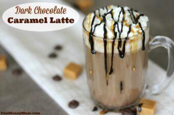 Dark Chocolate Caramel Latte