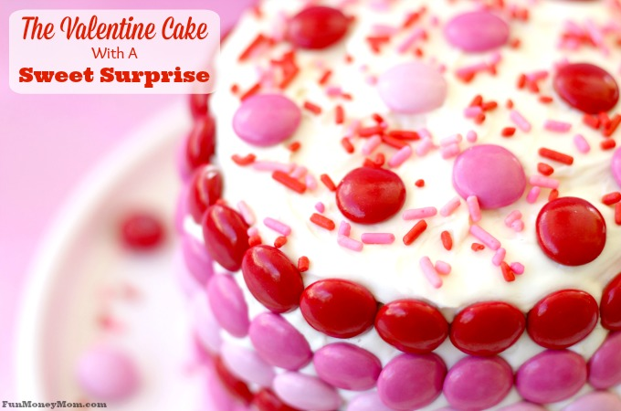Fun Mini Valentine Cake With A Candy Surprise