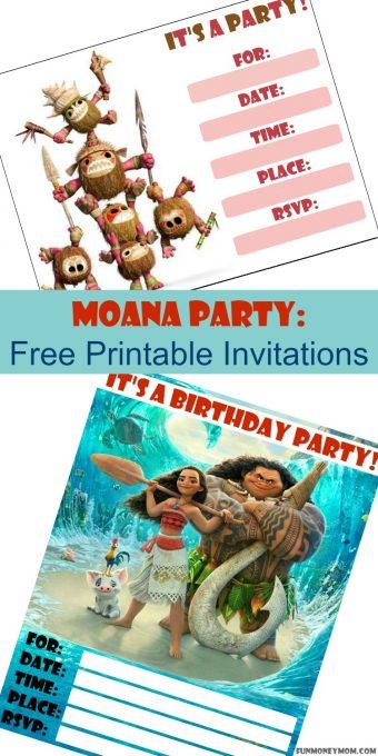 moana invitation template free - moana birthday invitations free printable invitations