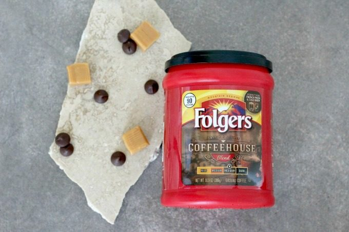 You'll need Folgers Coffeehouse Blend for your Dark Chocolate Caramel Latte