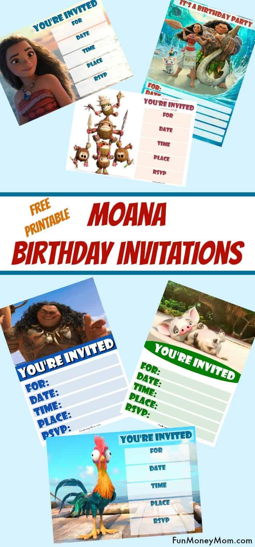 Moana Birthday Invitations Free Printable Invitations For A Moana