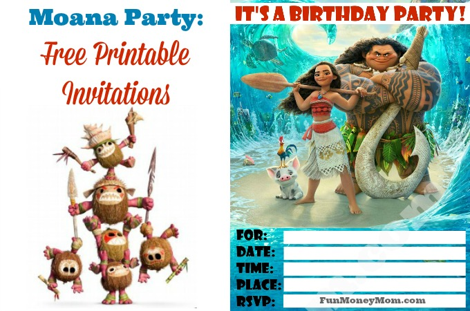 Moana Birthday Party: Free Printable Invitations