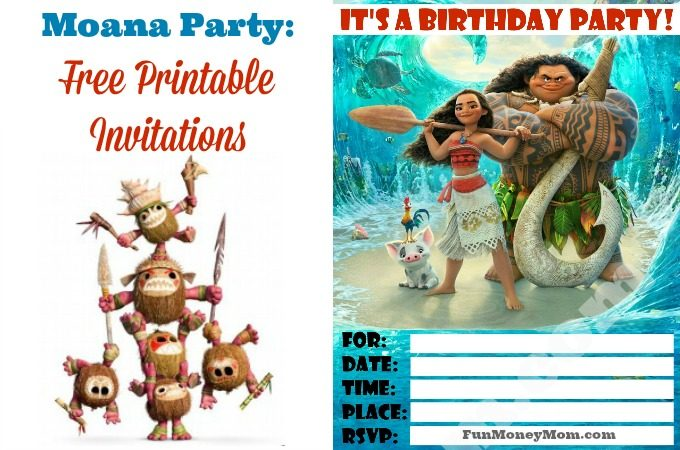 If you're having a Moana birthday party, these free printable invitations are just what you need.