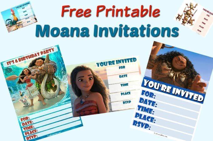 Moana birthday invitations