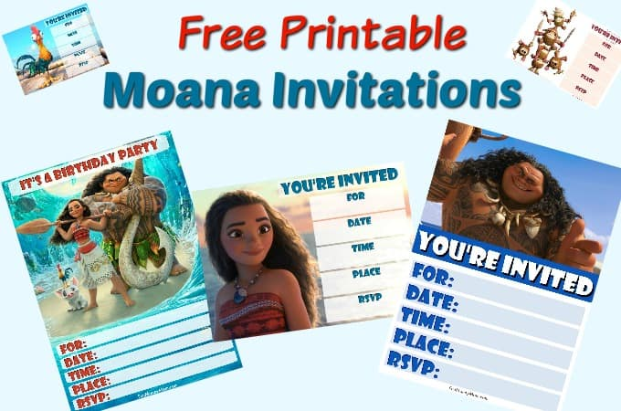 Moana birthday invitations feature