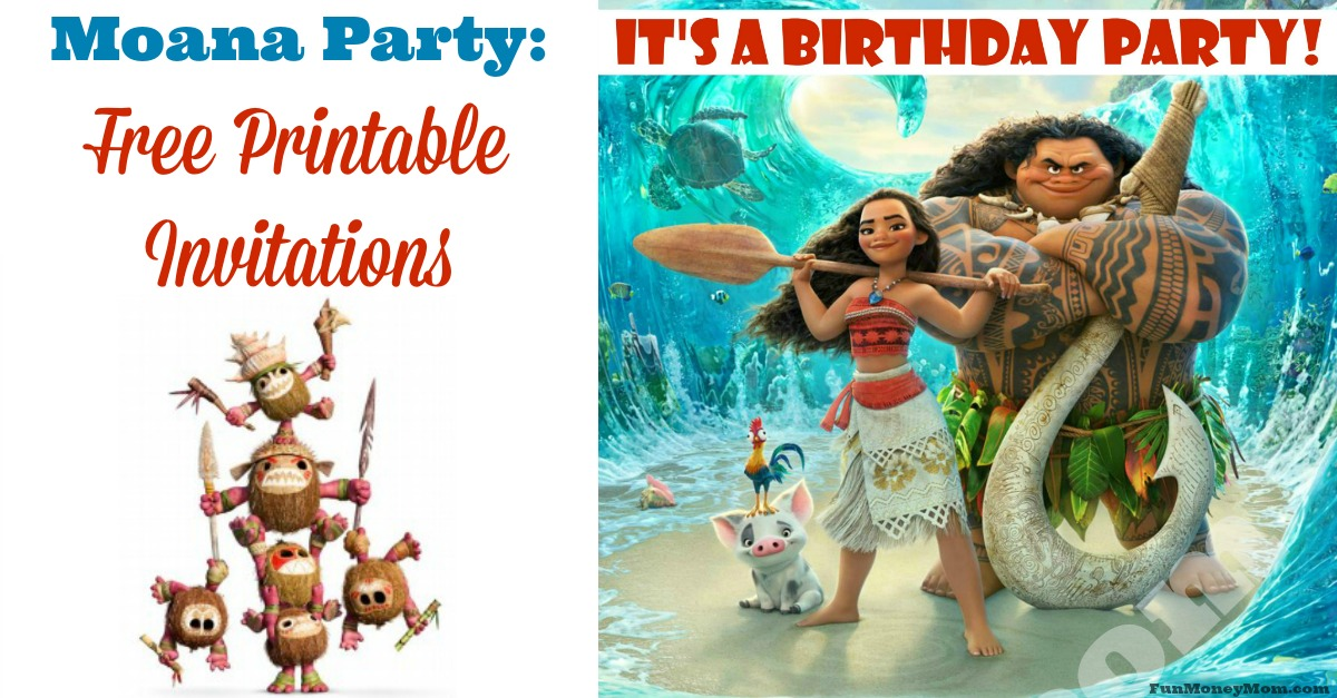 Moana Invitations - Free Printables For A Princess ...