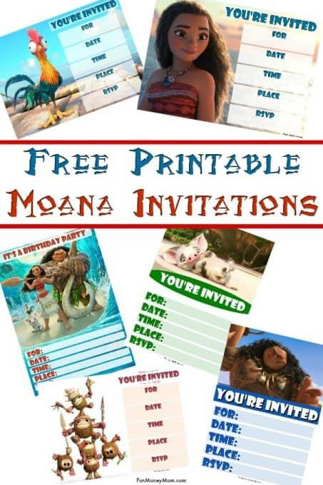 97 Moana Birthday Party Invitation Wording