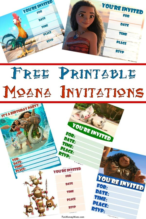 image relating to Printable Moana Invitations titled Moana Birthday Invites - No cost Printable Invites For