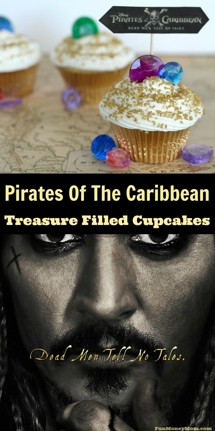 Check out this sneak peak of the new movie, plus some pirate inspired treasure filled cupcakes!