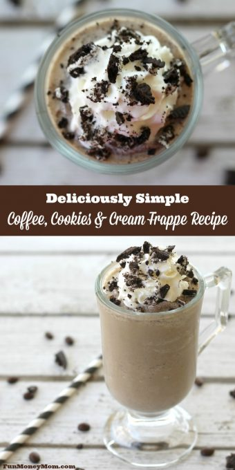 This Coffee, Cookies & Cream Frappe recipe is so delicious, the drinks at the coffee shop will never taste the same again!