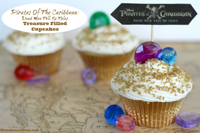 Pirates Of The Caribbean Treasure Filled Cupcakes