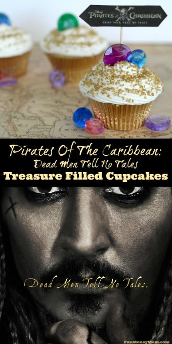 Excited about the new Pirates Of The Caribbean: Dead Men Tell No Tales? So am I! Check out this sneak peak of the new movie, plus some pirate inspired treasure filled cupcakes!